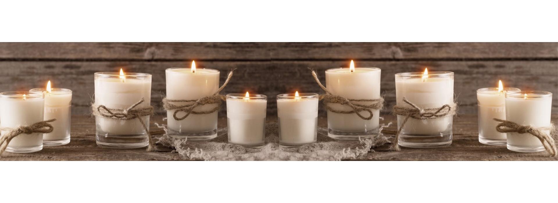 Растительные насыпные свечи
