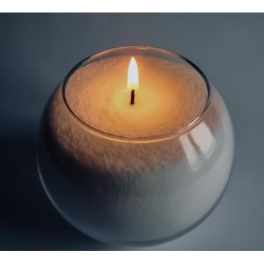 "Насыпная свеча ""снежный"" Шар AGNI 5 литров 19х22"